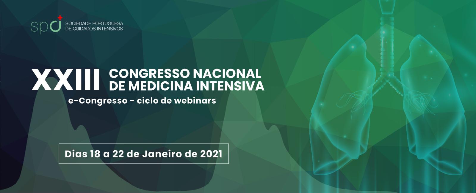 XXIII Congresso Nacional de Medicina Intensiva | e-congresso - ciclo de webinars