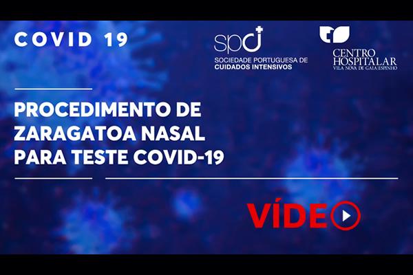 Covid-19: Procedimento para zaragatoa nasal para diagnóstico