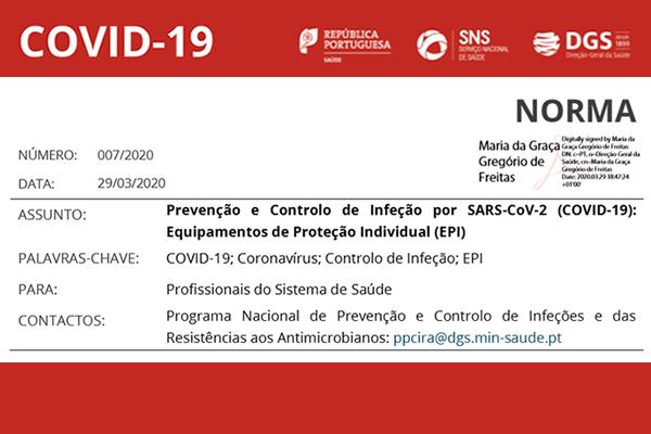 Covid-19: Norma 007/2020 da DGS