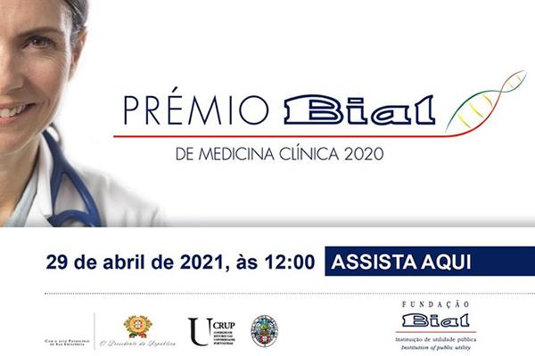 Prémio BIAL de Medicina Clínica 2020 - em direto