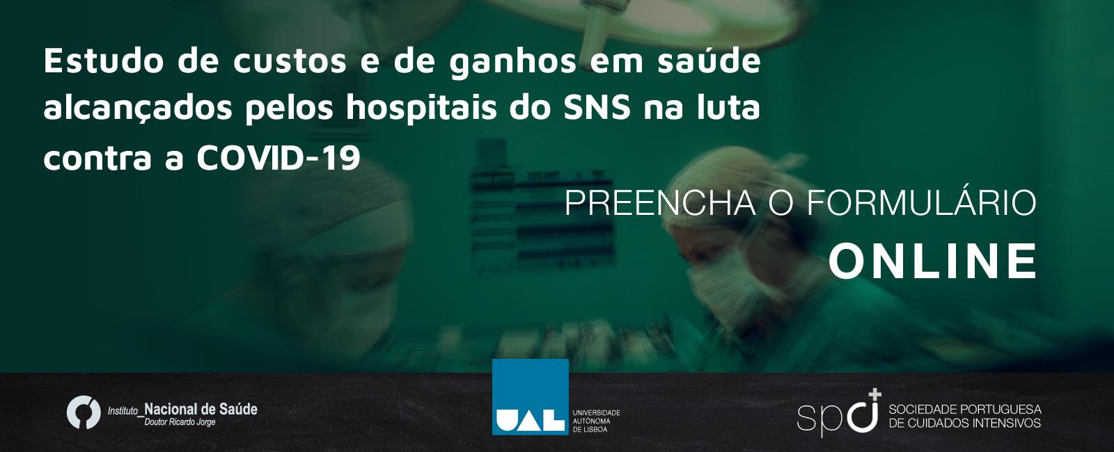 Estudo de custos e de ganhos em saúde alcançados pelos hospitais do SNS na luta contra a COVID-19