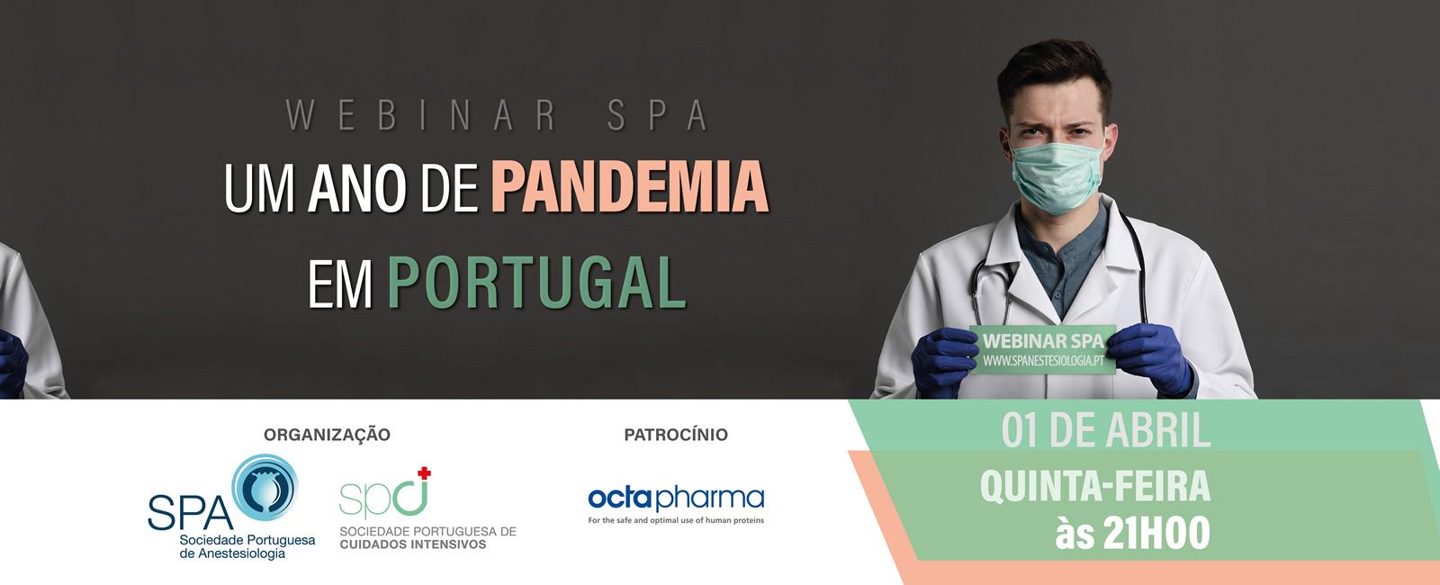 Um ano de Pandemia em Portugal: webinar da Sociedade Portuguesa de Anestesiologia